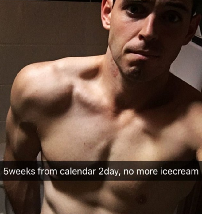 Sam posted a Snapchat pic to his Instagram last year saying that he's changing up his diet. Photo: Sam Rouen