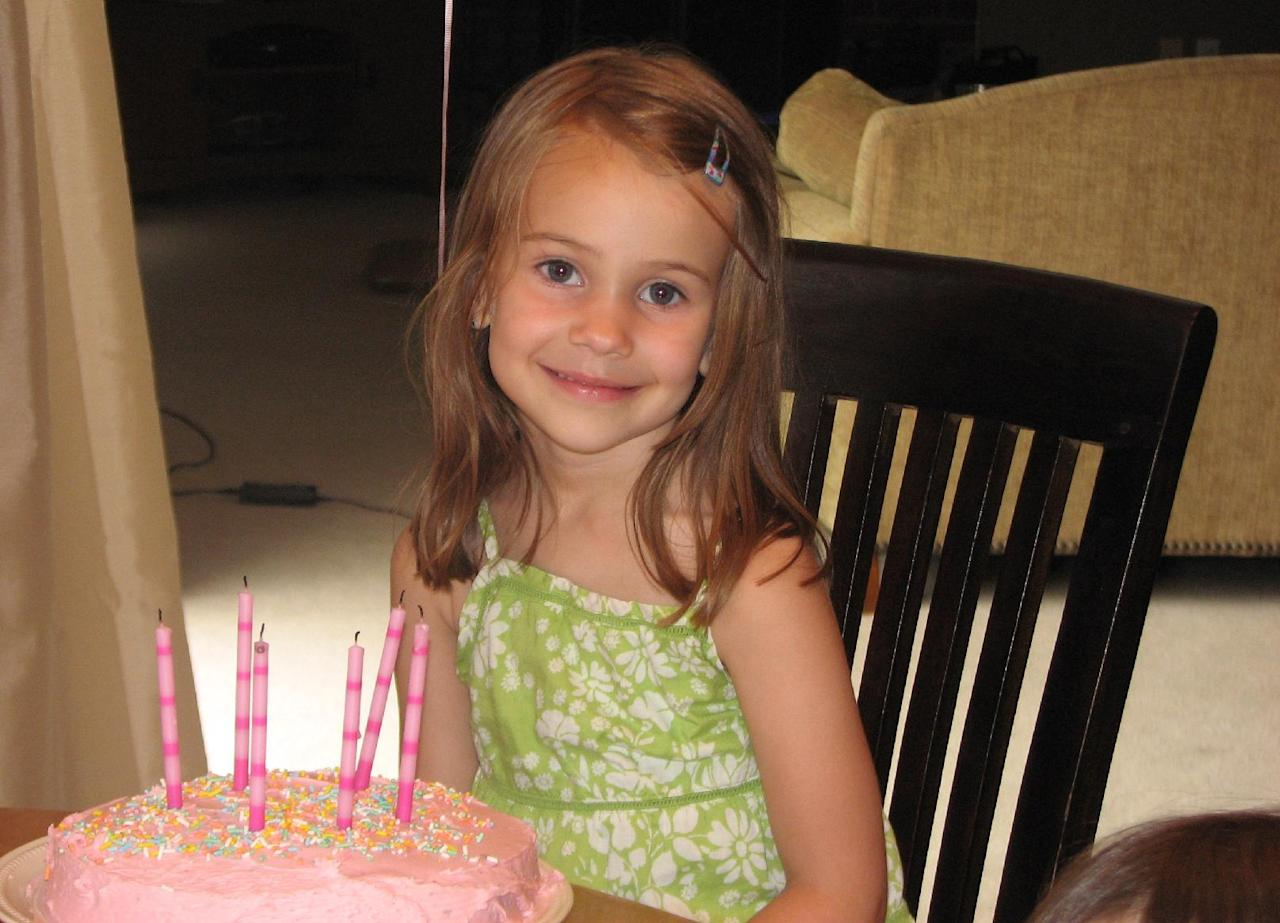 This photo provided by the Wyatt family shows Allison Wyatt. Wyatt, 6, was killed Friday, Dec. 14, 2012, when a gunman opened fire at Sandy Hook elementary school in Newtown, Conn., killing 26 children and adults at the school. (AP Photo/Family Photo via Benjamin Wyatt)