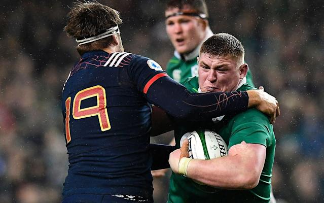 <span>Tadhg Furlong is tipped to be the starting tighthead</span> <span>Credit: AFP </span>