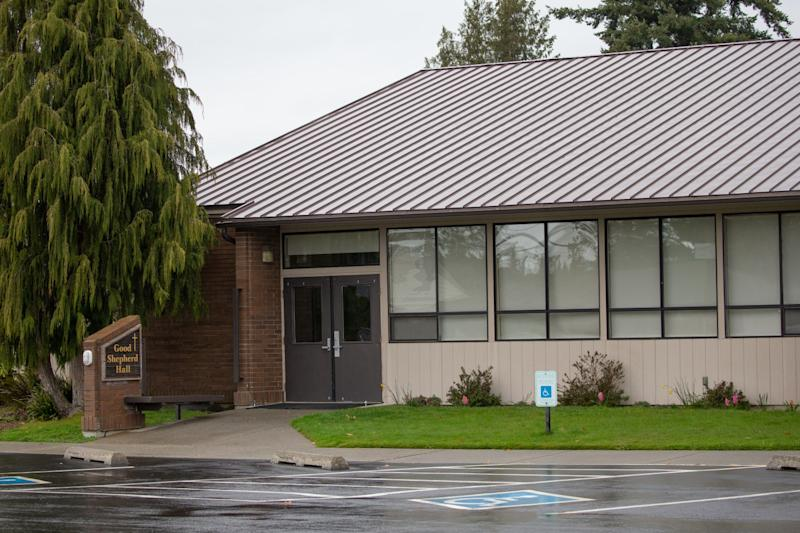 Skagit Valley Chorale members rehearsed in this church hall
