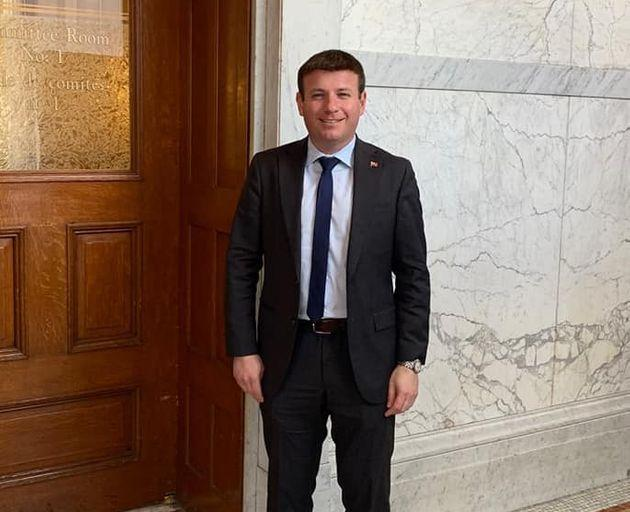 Ontario MPP Roman Baber poses at Queen's Park in Toronto in this Facebook photo.