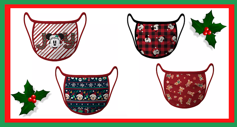 Disney's new holiday face masks are now available.