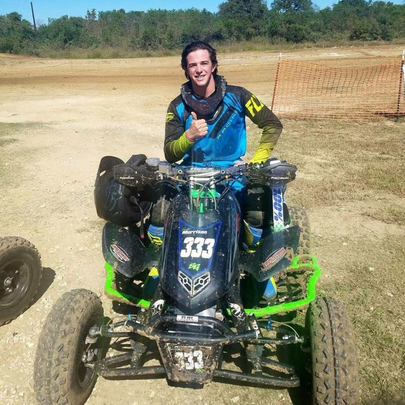 Picture of Hunter Morrison on a quad bike