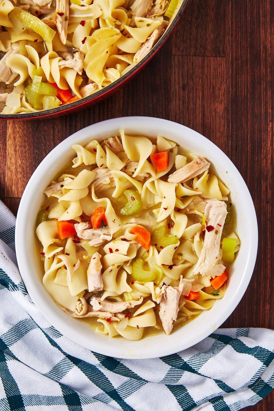 "<p>Step out of your chicken noodle comfort zone.</p><p>Get the recipe from <a href=""https://www.delish.com/cooking/recipe-ideas/a29089192/turkey-noodle-soup-recipe/"" rel=""nofollow noopener"" target=""_blank"" data-ylk=""slk:Delish"" class=""link rapid-noclick-resp"">Delish</a>.</p>"