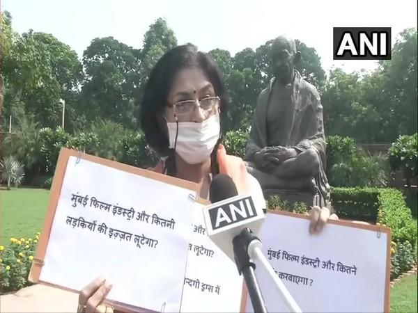 BJP MP Rupa Ganguly speaking to ANI in Parliament premises on Monday. (Photo/ANI)