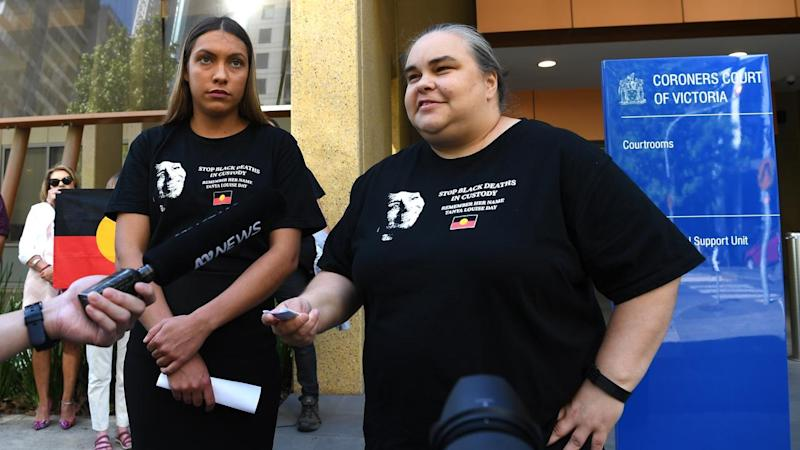 Belinda Day (right) says her family holds Victoria Police responsible for her mother's death
