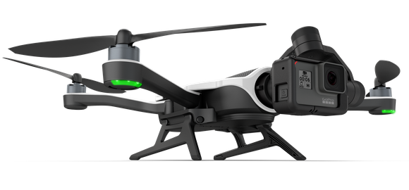 GoPro's Karma drone with camera attached.