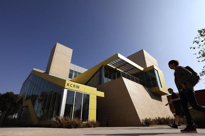 SANTA MONICA, CA - NOVEMBER 8, 2018 - - The new KCRW Media Center in Santa Monica on November 8, 2018. The station's new building was designed by architect Clive Wilkinson and resides on the Santa Monica College?s Center for Media and Design Campus. (Genaro Molina/Los Angeles Times)