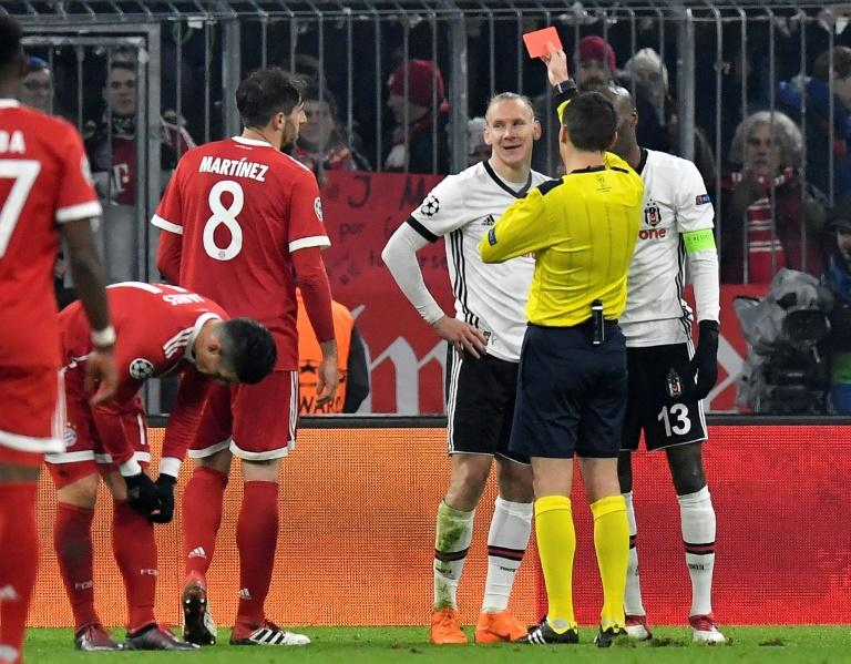 Domagoj Vida's early red card marked the start of a wretched night for Besiktas