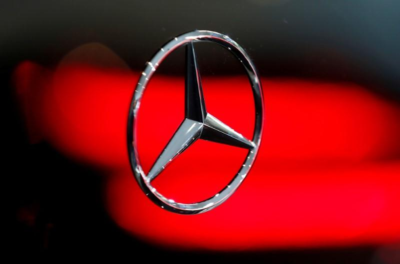 FILE PHOTO: A Mercedes logo is pictured at the Frankfurt Motor Show (IAA) in Frankfurt