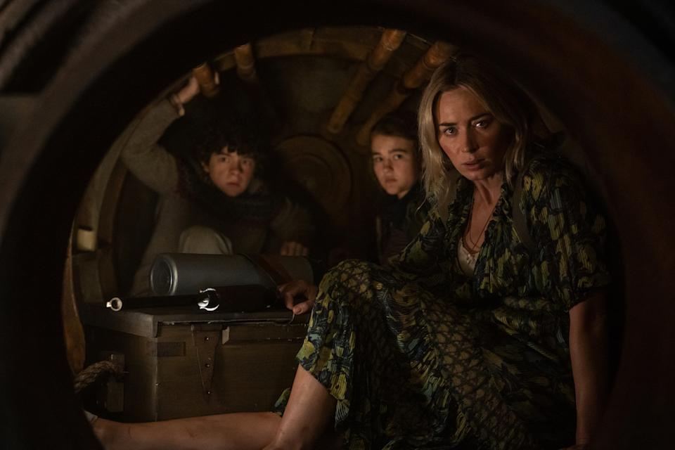 Marcus (Noah Jupe), Regan (Millicent Simmonds), and Evelyn (Emily Blunt) brave the unknown in A Quiet Place Part II. Marcus (Noah Jupe) braves the unknown in A Quiet Place Part II. (PHOTO: United International Pictures)