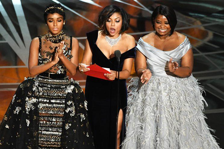 <i>Hidden Figures</i> stars Janelle Monae, Taraji P. Henson, and Octavia Spencer were a hoot. (Photo: Kevin Winter/Getty Images)