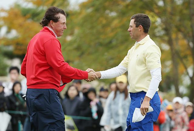 Phil Mickelson and Charl Schwartzel