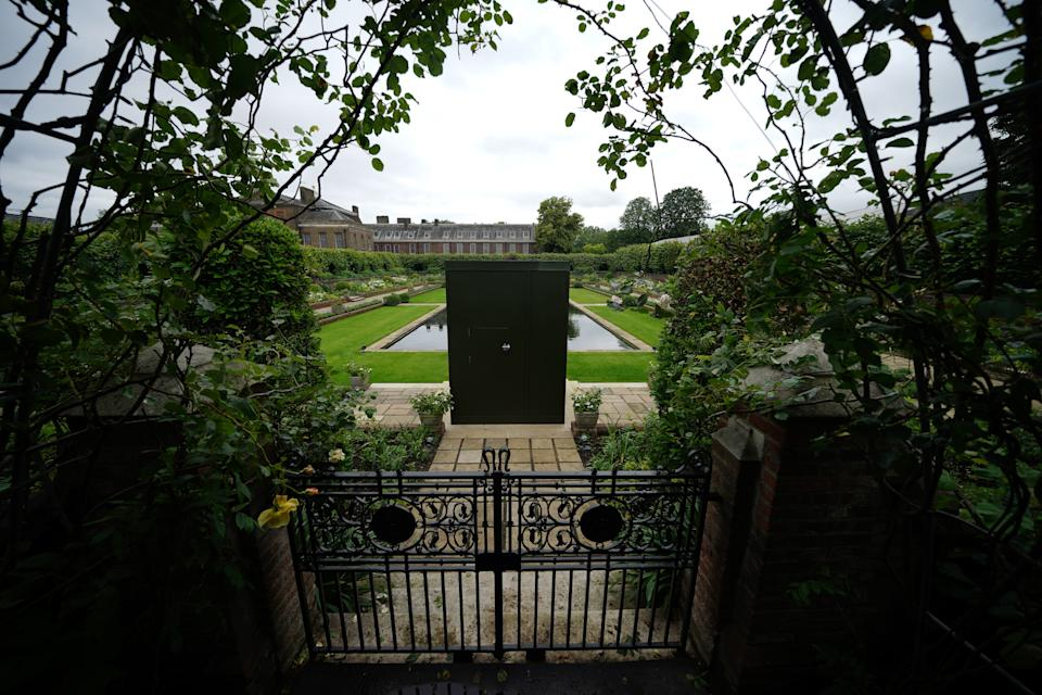 A view of the Sunken Garden at Kensington Palace, London, the former home of Diana, Princess of Wales, where her sons, the Duke of Cambridge and the Duke of Sussex, will put their differences aside when they unveil a statue in her memory on what would have been her 60th birthday. Picture date: Wednesday June 30, 2021. (Photo by Aaron Chown/PA Images via Getty Images)