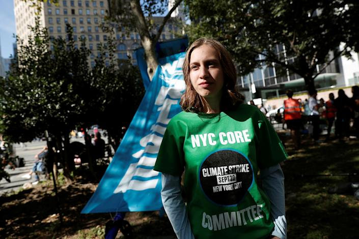 14-year-old activist Alexandria Villasenor takes part in a demonstration as part of the Global Climate Strike in Manhattan in New York, U.S., Sept. 20, 2019. | Shannon Stapleton—Reuters