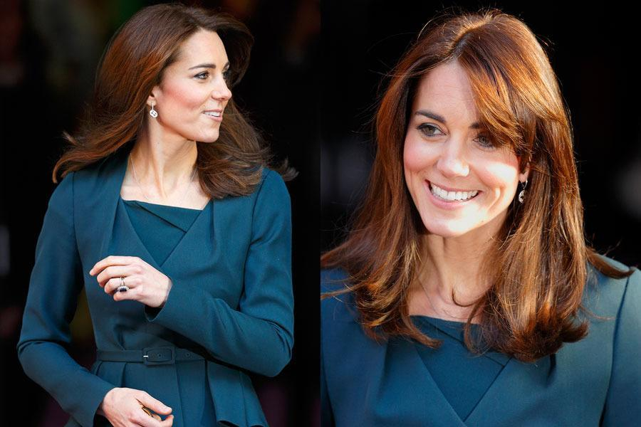 <br>She debuted bangs back in September and now Kate has gone a step further... In her boldest hair move yet, Kate has gone and chopped inches off her long princess locks and lightened up her colour!