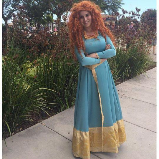 """<p>The red-headed """"Brave"""" princess graced Comic Con attendees with her presence in a beautiful custom gown. (Source: Instagram, <a href=""""https://instagram.com/tyfofficial/"""" rel=""""nofollow noopener"""" target=""""_blank"""" data-ylk=""""slk:tyfofficial"""" class=""""link rapid-noclick-resp"""">tyfofficial</a>)<br></p>"""