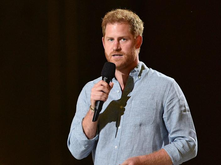 Prince Harry at the Vax Live fundraising concert on 2 May 2021 in Inglewood, California (VALERIE MACON/AFP via Getty Images)