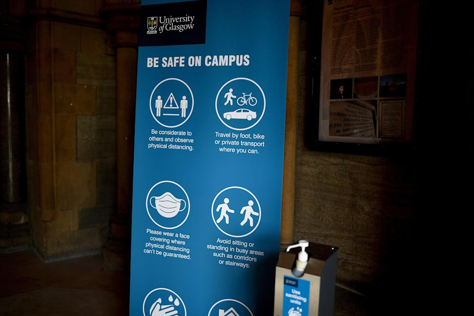 At least 124 students have tested positive for coronavirus at Glasgow University (Getty Images)