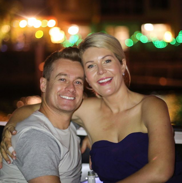 The pictures were taken as a gift for wife Chazzi, pictured, as part of their eith anniversary celebrations. Source: Instagram/GrantDenyer