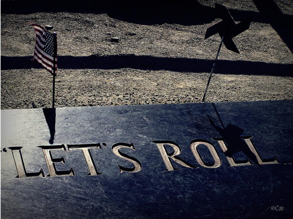 """Let's Roll<br><br>Flight 93 Memorial - Shanksville, PA.<br><br>By <a target=""""_blank"""" href=""""http://www.flickr.com/photos/expressionsbychristine/4006266985/sizes/l/in/pool-1775706@N22/"""">Expressions by Christine</a>, Copyright © 2011"""