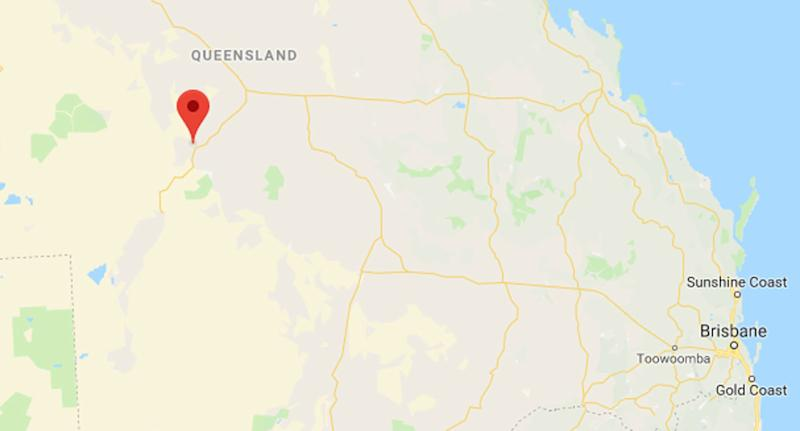 A man has died after the quad bike he was riding crashed into a bridge in Stonehenge, near Longreach in Queensland, before being hit by a passing vehicle, according to police. Source: Google Maps