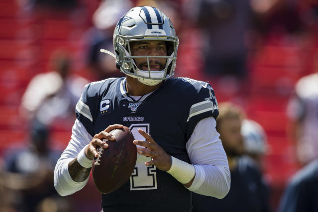 Can't go wrong with Dak Prescott right now. (Photo by Scott Taetsch/Getty Images)