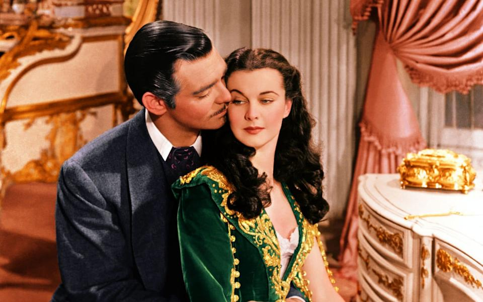 Clark Gable and Vivien Leigh in Gone with the Wind - Moviepix
