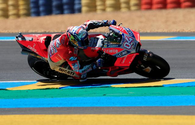 Motorcycling - MotoGP - French Grand Prix - Bugatti Circuit, Le Mans, France - May 19, 2018 Ducati Corse's Andrea Dovizioso during qualifying REUTERS/Gonzalo Fuentes