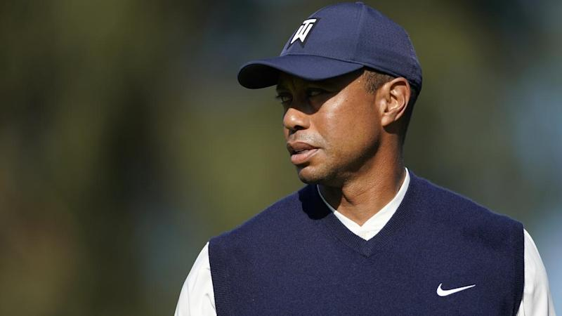 Tiger Woods during his last PGA Tour appearance, at the Genesis Invitational in February
