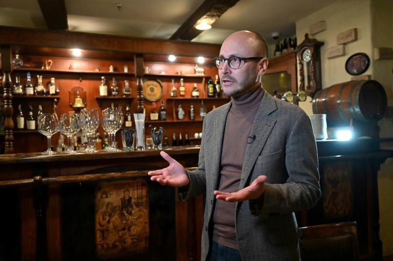 "Restaurant owner Sergiy Gusovsky said the law would encourage ""a more active use of Ukrainian"""