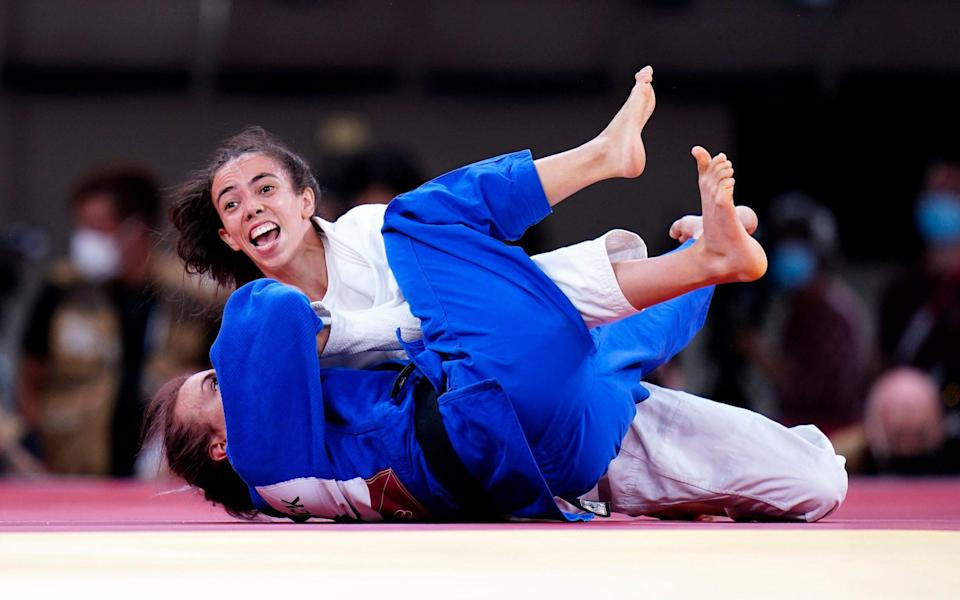 Chelsie Giles wins Britain's first medal of the 2020 Games - Danny Lawson/PA