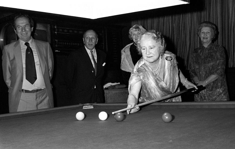<p>This was not the first time the Queen Mother showed off her skills on the billiards table. In 1961, she played a game for photographers, while visiting the London Press Club on Fleet Street. </p>