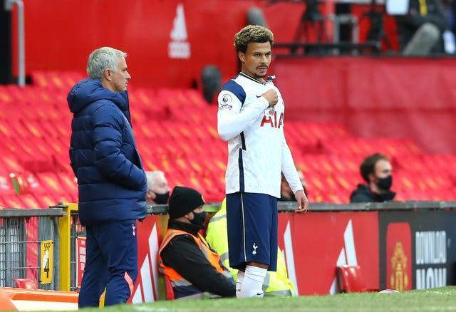 Tottenham's Dele Alli (right) has been out of favour at Tottenham under Jose Mourinho (left) (Alex Livesey/PA).