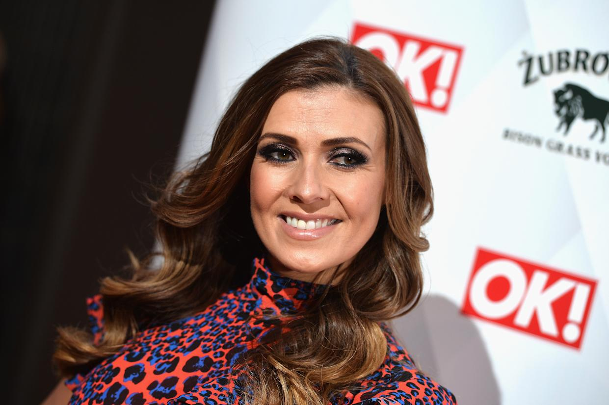 Kym Marsh's fans spotted her armpit in Instagram post. (Getty Images)