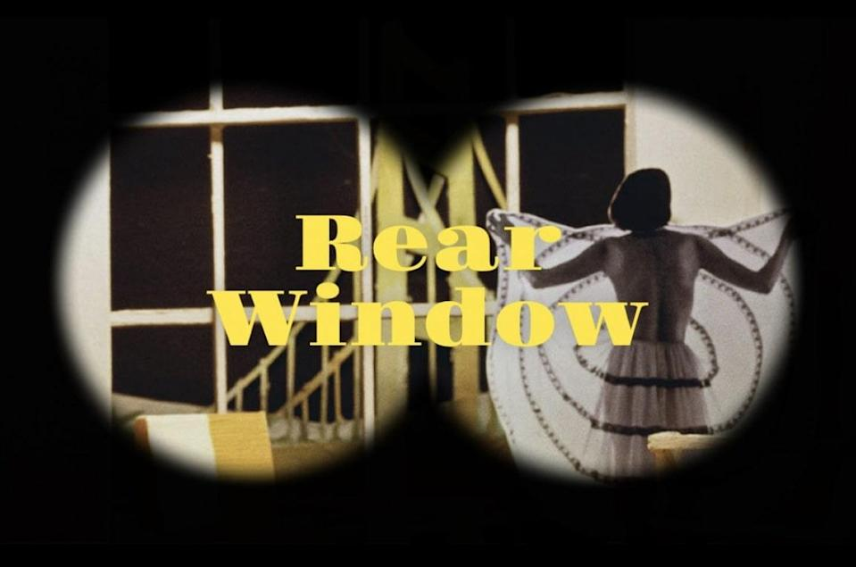 The 'Rear Window' exhibition is inspired by the classic Alfred Hitchcock movie of the same name.