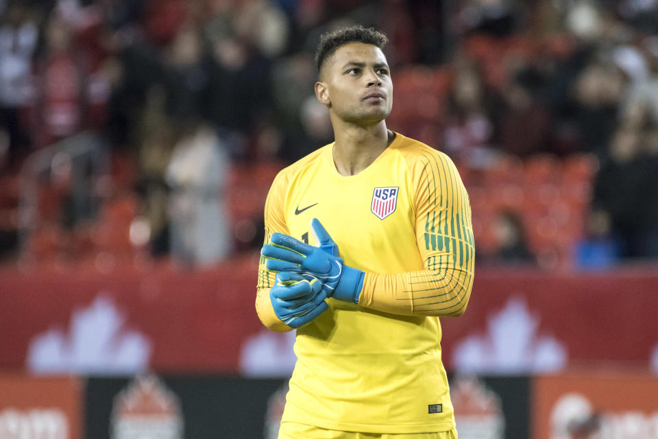 U.S. goalkeeper Zack Steffen has been beset by injuries in his first season as a Bundesliga starter. (Angel Marchini/Getty)
