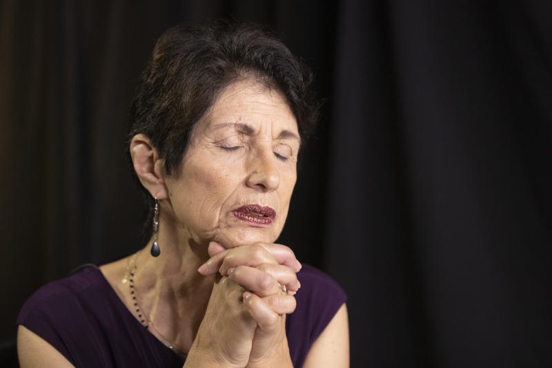 "Diane Foley, mother of journalist James Foley, who was killed by the Islamic State terrorist group in a graphic video released online, speaks to the Associated Press during an interview in Washington, Wednesday, June 19, 2019. The U.S. must do a better job communicating with families of American hostages held overseas, including telling ""hard truths"" about the chances for rescue and clarifying the government's position on ransom payments to captors, according to a new report from the  James W. Foley Legacy Foundation. (AP Photo/Manuel Balce Ceneta)"