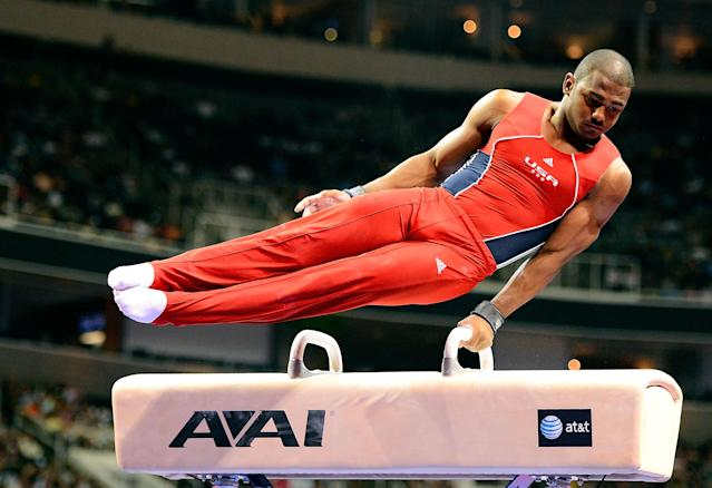SAN JOSE, CA - JUNE 30: John Orozco competes on the pommel horse during day 3 of the 2012 U.S. Olympic Gymnastics Team Trials at HP Pavilion on June 30, 2012 in San Jose, California. (Photo by Ronald Martinez/Getty Images)