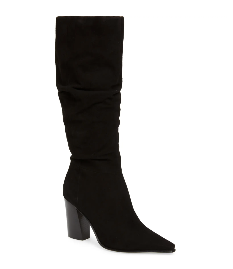 Vince Camuto Derika Leather Boot in Black Suede (Photo via Nordstrom)