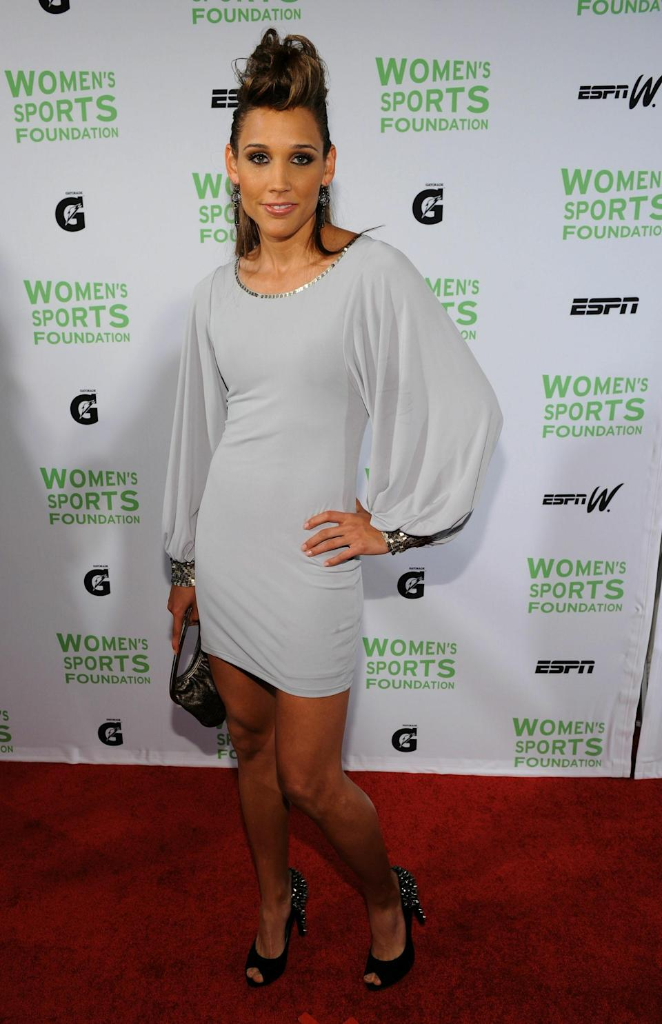Olympic Track and Field athlete Lolo Jones attends the 32nd Annual Salute to Women in Sports gala at The Waldorf-Astoria on October 12, 2010 in New York City. (Photo by Bryan Bedder/Getty Images)