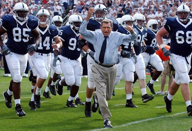 Joe Paterno won more college football games than any other coach, until those wins were vacated because of the Sandusky scandal. (AP)