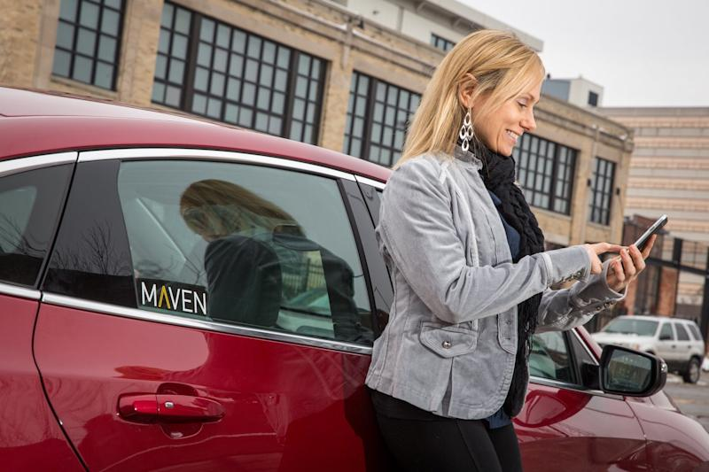 Uber drivers in San Francisco can rent cars from Maven in test program