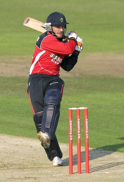 BRISTOL, UNITED KINGDOM - JULY 04:  Glamorgan batsman Brendon McCullum hits out during the Twenty20 Cup match between Gloucestershire and Glamorgan Dragons at The County Ground on July 4, 2006 in Bristol, England.  (Photo by Stu Forster/Getty Images)