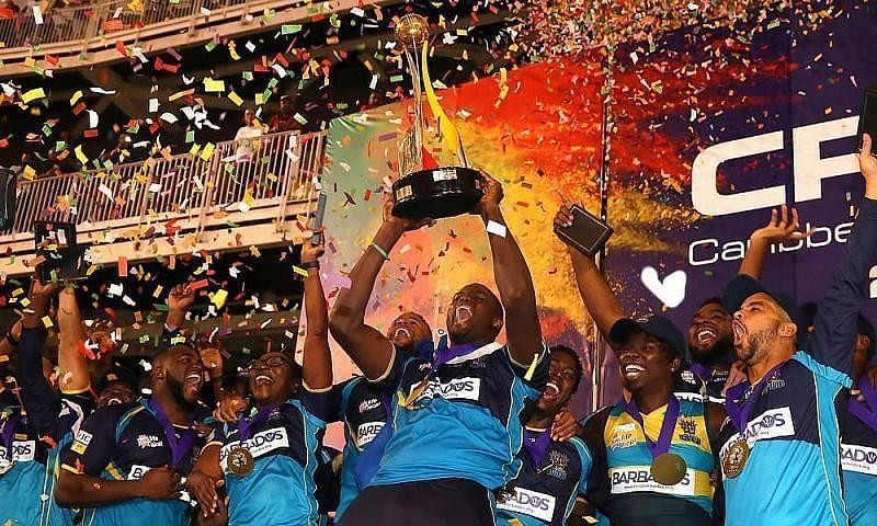 Barbados Tridents after winning CPL 2019 edition