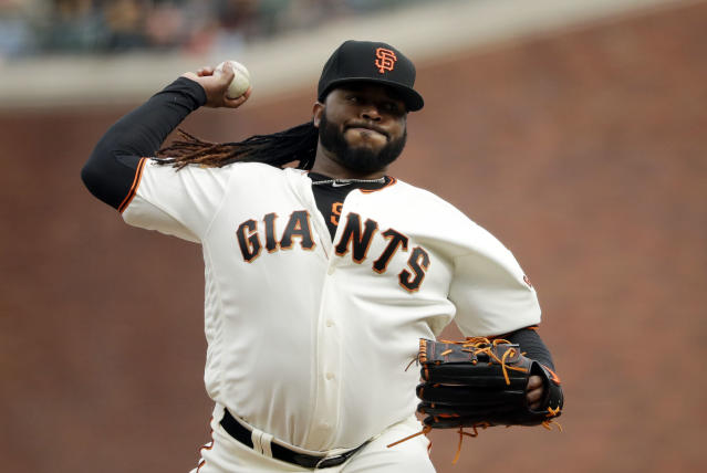 Johnny Cueto is headed to the DL where he will join other Giants pitchers Madison Bumgarner, Jeff Samardzija and Mark Melancon. (AP)