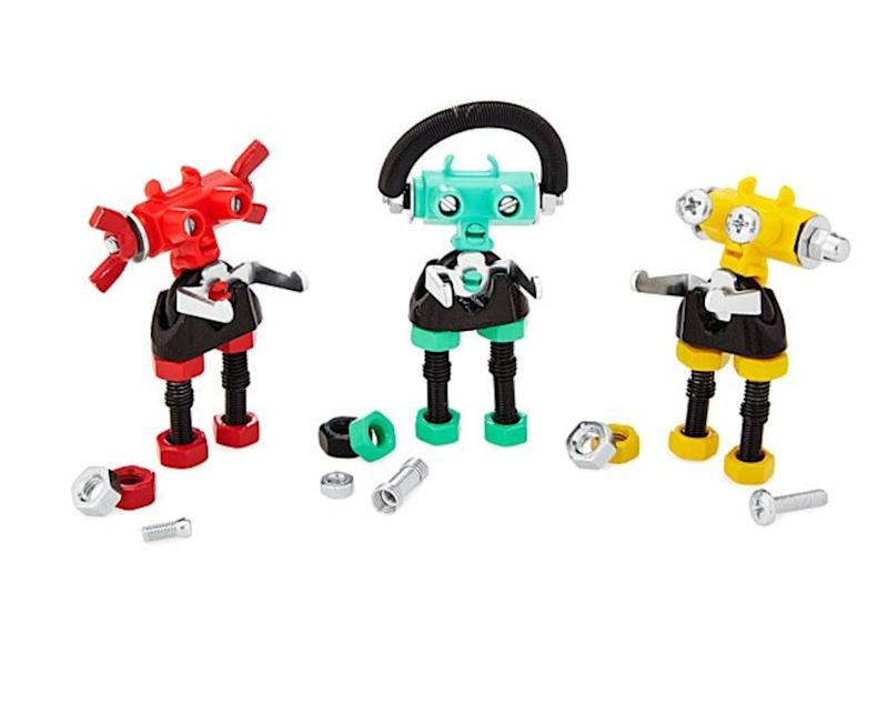 "These robots are freaking adorable, and as long as the kid you're buying them for is over the age of 3, it will help them build up creativity and mechanical skills. Get them&nbsp;<a href=""https://www.uncommongoods.com/product/build-your-own-robot-kit"" target=""_blank"" rel=""noopener noreferrer"">at Uncommon Goods</a> for $19.87."