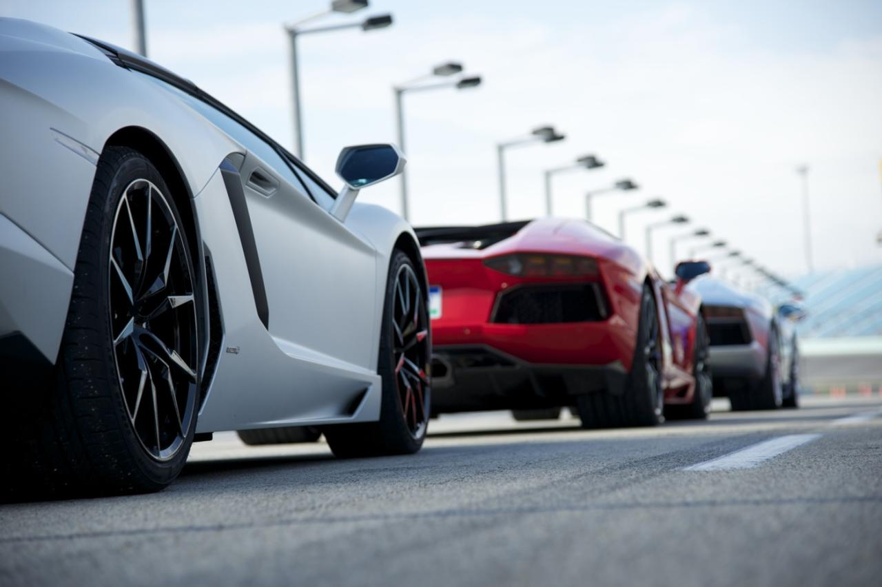 Aventadors line up at Miami's Homestead Speedway