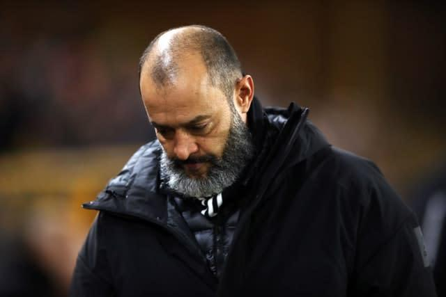 Wolves escaped injuries over the festive season but Nuno Espirito Santo was critical of the congested programme (Nick Potts/PA)