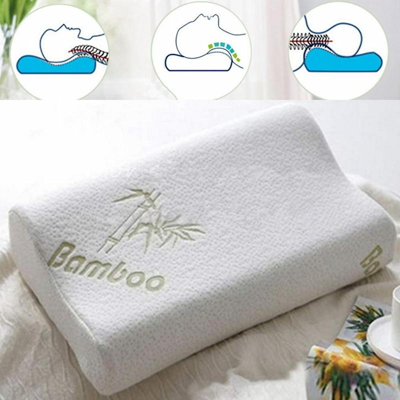 High-Density Bamboo Memory Foam Bed Pillow Hypoallergenic Cool Comfort Special Offer